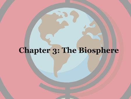 Chapter 3: The Biosphere. Chapter 3 Outline 3-1: What is Ecology? 3-2: Energy Flow 3-3: Cycles of Matter.