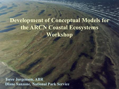 Development of Conceptual Models for the ARCN Coastal Ecosystems Workshop Torre Jorgenson, ABR Diane Sanzone, National Park Service.
