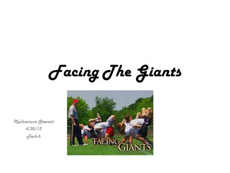 Facing The Giants Keshawnna Stewart 4/30/13 Tech-6.