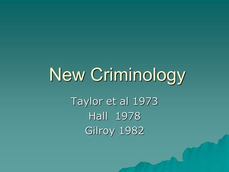 sociology criminology essay jan 2011