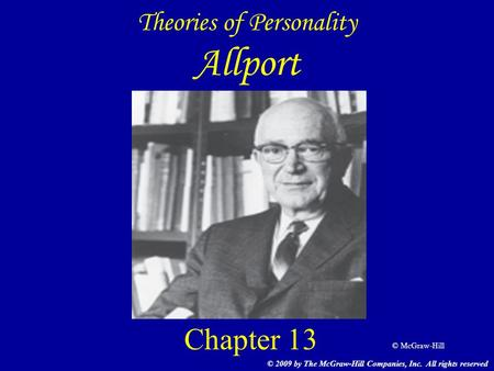 Theories of Personality Allport