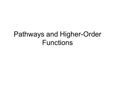 Pathways and Higher-Order Functions. Introduction There is a continuous flow of information between the brain, spinal cord, and peripheral nerves - millions.
