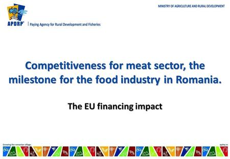 Competitiveness for meat sector, the milestone for the food industry in Romania. The EU financing impact.