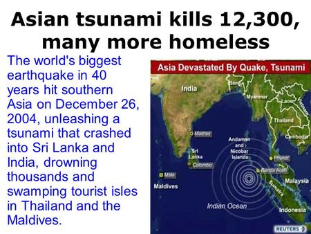 a history of the tsunami earthquake in southeast asia in 2004 Southeast asia earthquake 2004 a brief info-presentation on the tsunami in 2004 how did diffusion affect the history of southeast asia.