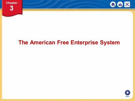 NEXT The American Free Enterprise System. NEXT Chapter 3: The American Free Enterprise System KEY CONCEPT Free enterprise system is another name for capitalism.