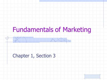 Fundamentals of Marketing Chapter 1, Section 3. 10/9/2015Page 2 Critical Thinking… Take 2-3 minutes to reflect on one recent marketing trend you have.