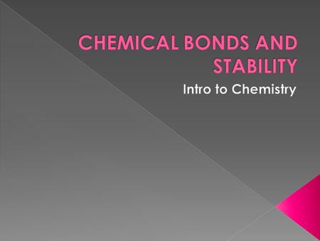  Atoms bond by or electrons. TRANSFERRING SHARING  An atom's depends on how likely it will. STABILITY REACT.