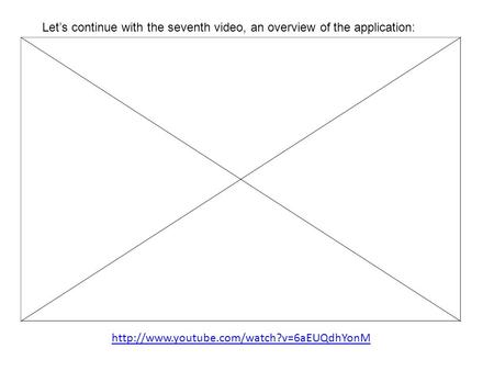 Let's continue with the seventh video, an overview of the application: