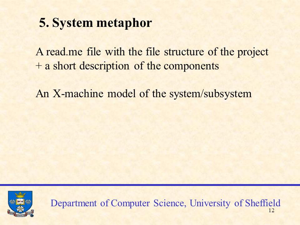 13 X-machine specification Department of Computer Science, University of Sheffield customer_proc end_customer pick_up_customer end_customer order_proc end_order exit