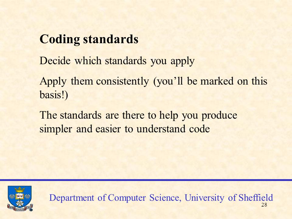 29 Department of Computer Science, University of Sheffield References K.
