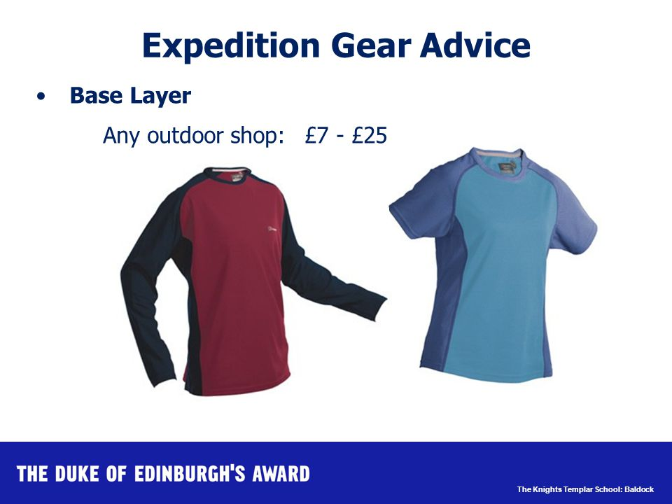 The Knights Templar School: Baldock Expedition Gear Advice Walking Trousers E.g.