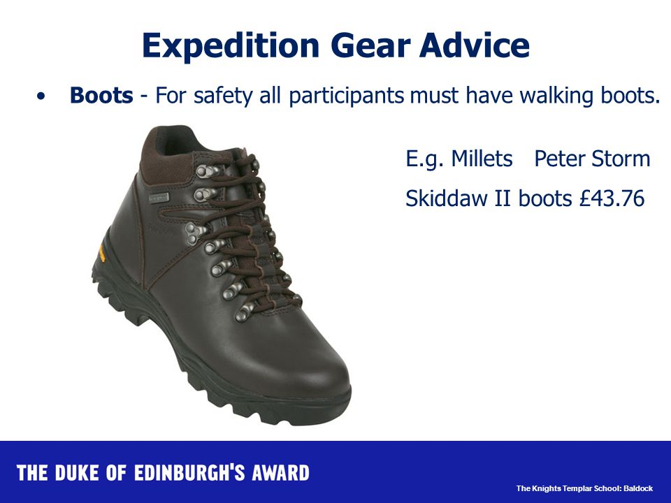 The Knights Templar School: Baldock Waterproofs – Jacket and Trousers Expedition Gear Advice