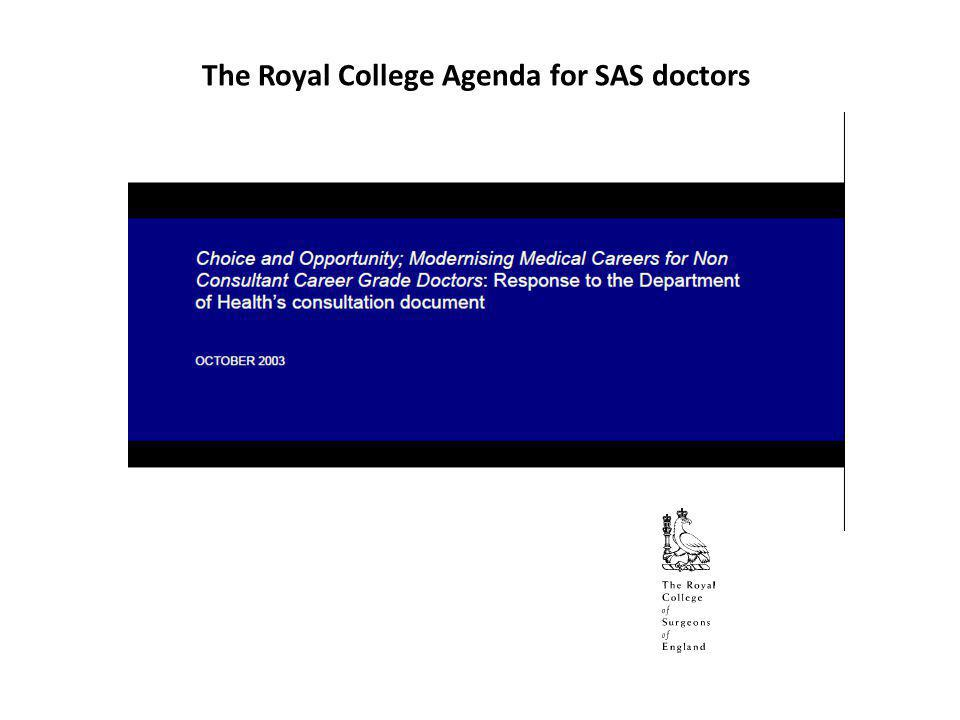 The Royal College of Surgeons of England understands the concerns of NCCG doctors and welcomes the opportunity to address their unmet needs and aspirations.