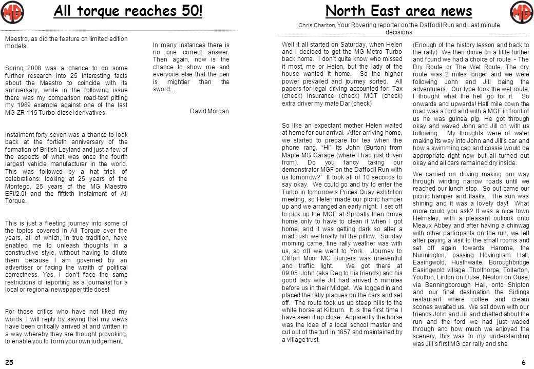 724 North east area newsAll torque reaches 50.