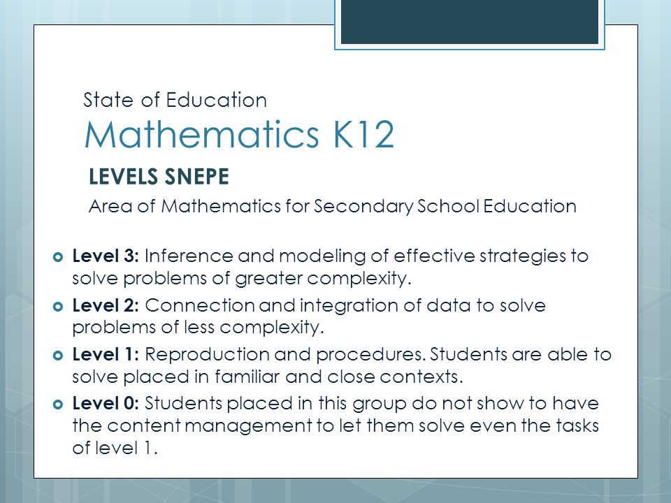 Estado de la Educación Matemática K12 Matemática Ed. Media (2º Año) SNEPE 2006