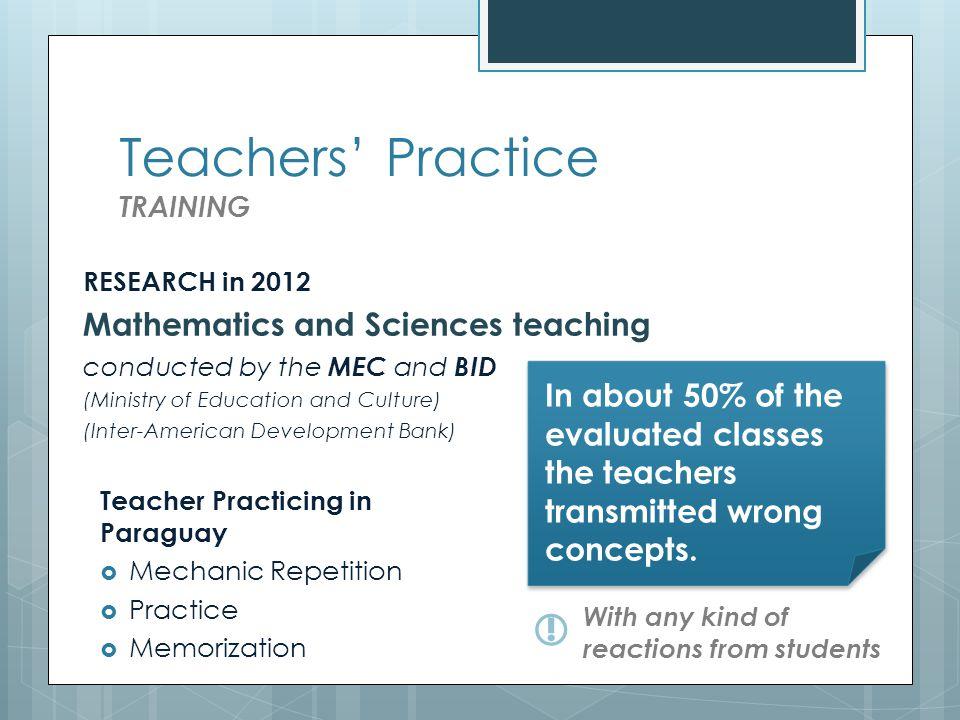 Teachers in practice PROFILE