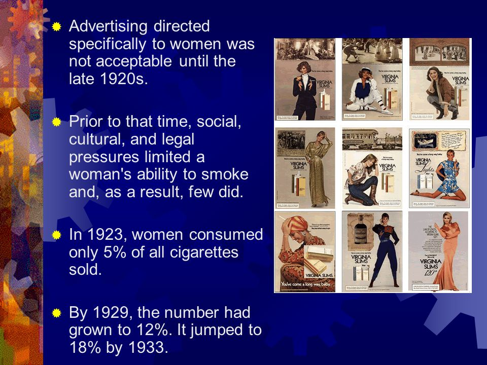 How Did That Happen. Aggressive marketing to women by tobacco companies.