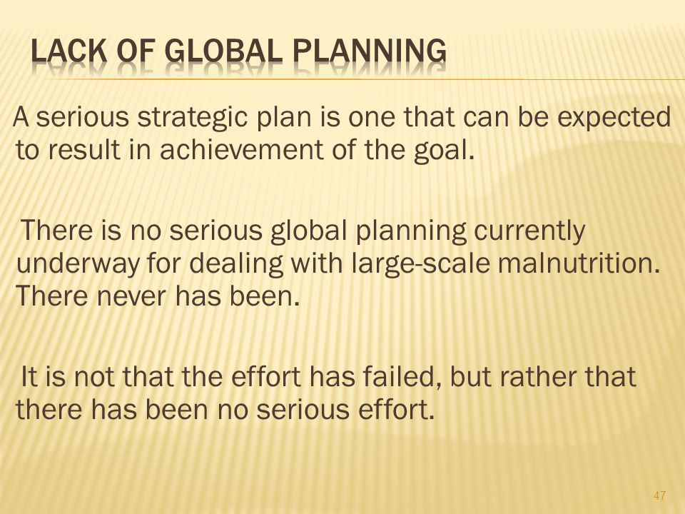 There is a need not for top-down planning or bottom-up planning, but joint planning.