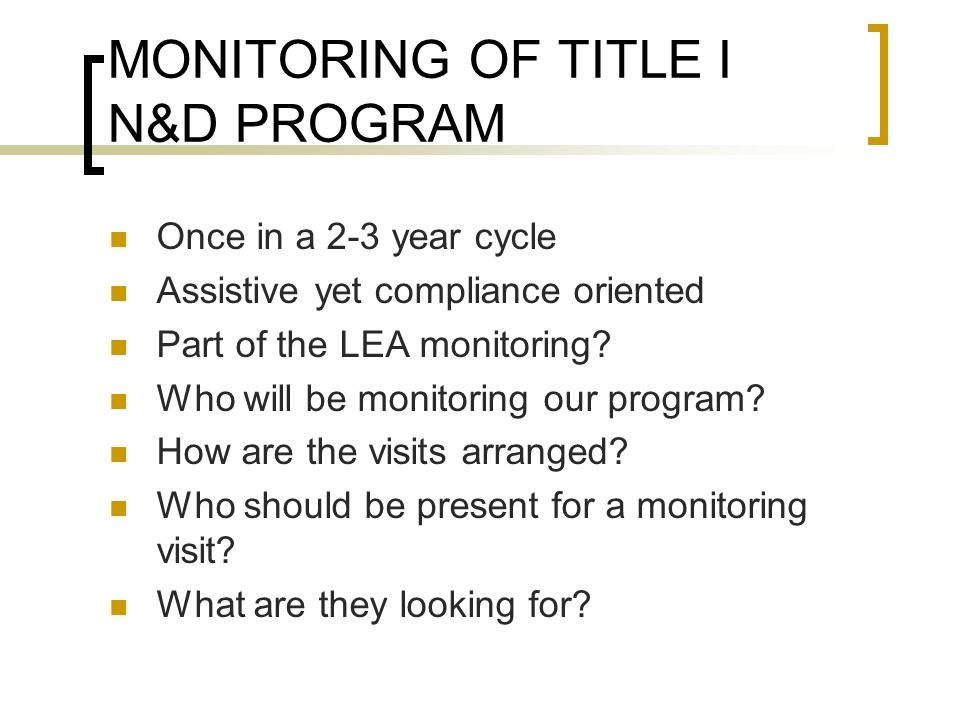 MONITORING INSTRUMENT Institution Name Address Contact person Email address LEA Providing Services Total Allocation Date Monitored