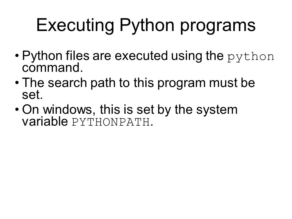 Python is dynamically typed # -*- coding: utf-8 -*- # a refers to a number a = 10 print a, a.__class__ # a refers to a string a = lkshjdglgv print a, a.__class__ # a refers to a list a = [5, 2, 8, 5] print a, a.__class__ a.sort() # a refers to a number again a = 10 a.sort() $> python dynamic_binding.py 10 lkshjdglgv [5, 2, 8, 5] Traceback (most recent call last): File dynamic_binding.py , line 18, in a.sort() AttributeError: int object has no attribute sort Duck Typing: when I see a bird that walks like a duck and swims like a duck and quacks like a duck, I call that bird a duck.