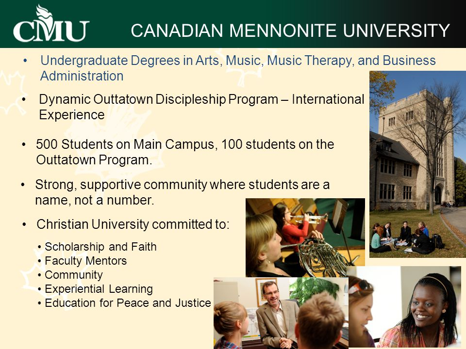 T HE P REMIER F RANCOPHONE U NIVERSITY Established in Western Canada nearly 200 years ago, Université de Saint-Boniface offers a friendly and supporting learning environment to francophone students from around the world.