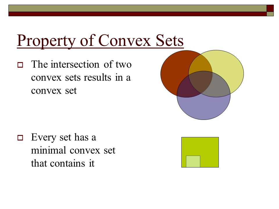 Convex Hulls  Given a set S  R n  Convex Hull H Contains S Is convex Is contained by all convex sets containing S (i.e.