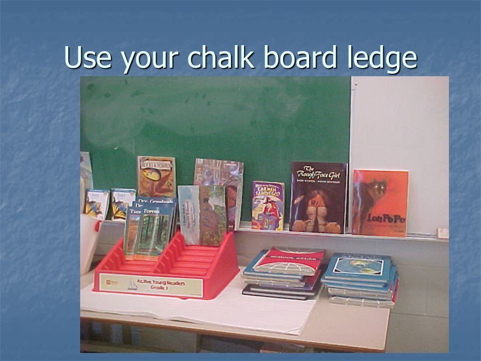 Use plastic baskets or boxes to hold books