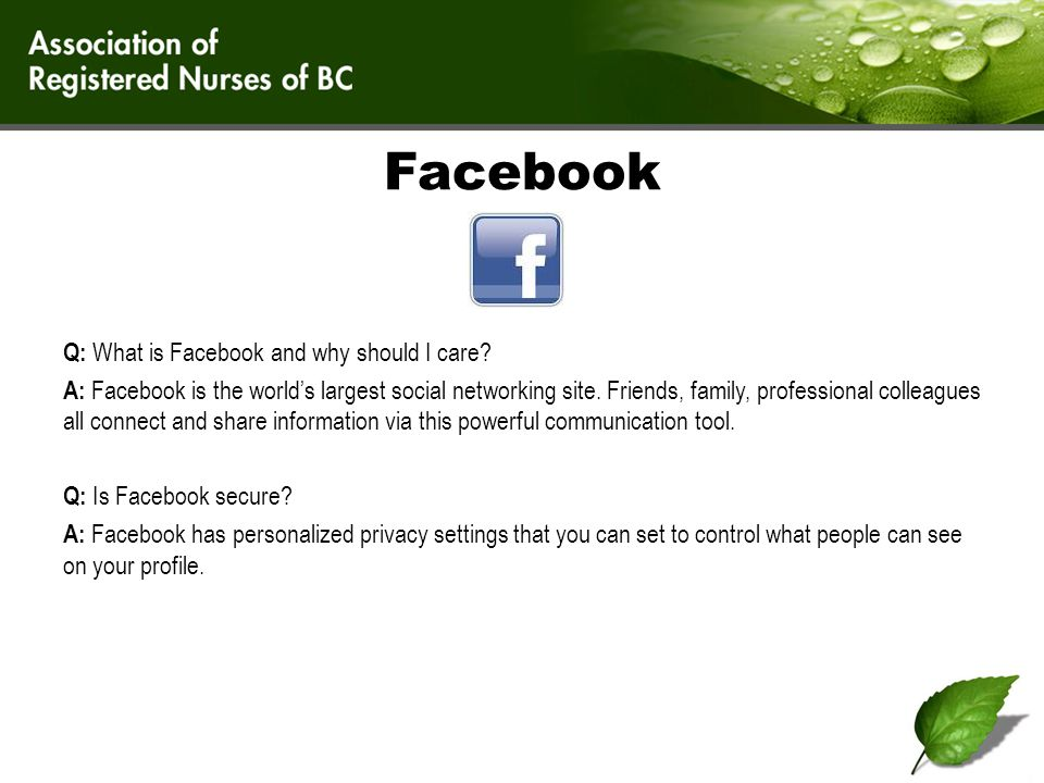 More Facebook.Facebook has nearly 1 billion users.