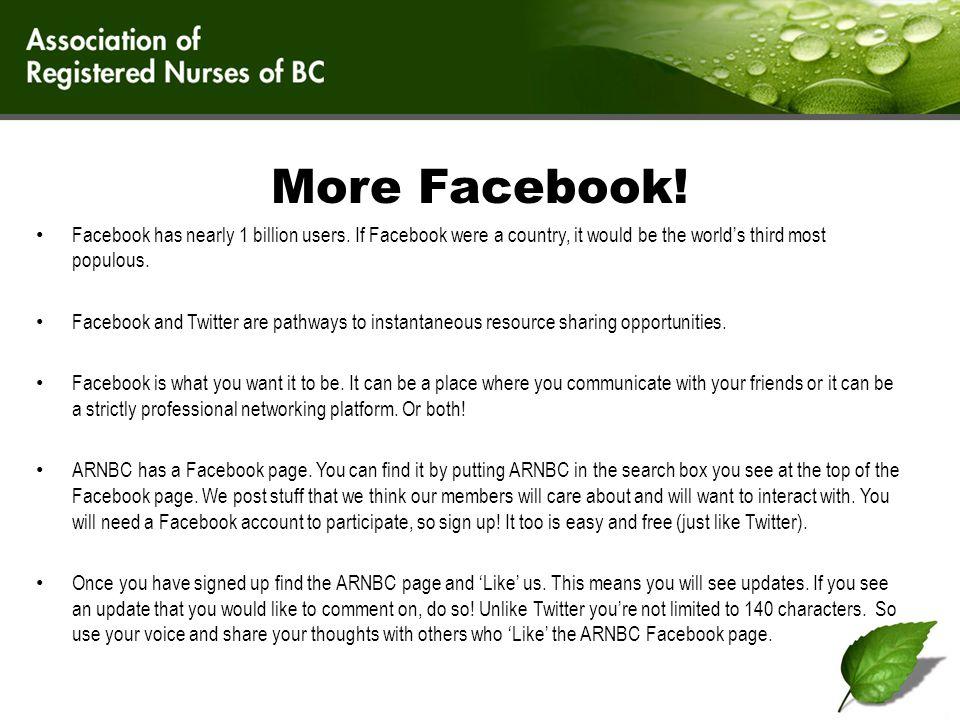 ARNBC's Facebook Page