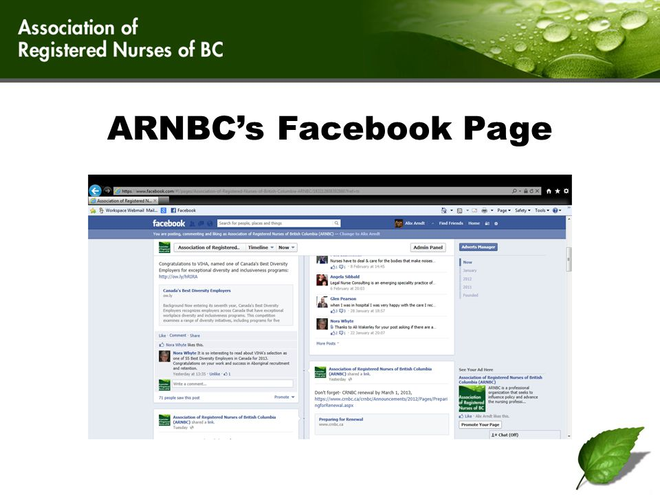 The Blog ARNBC has a great blog.We're not being conceited.