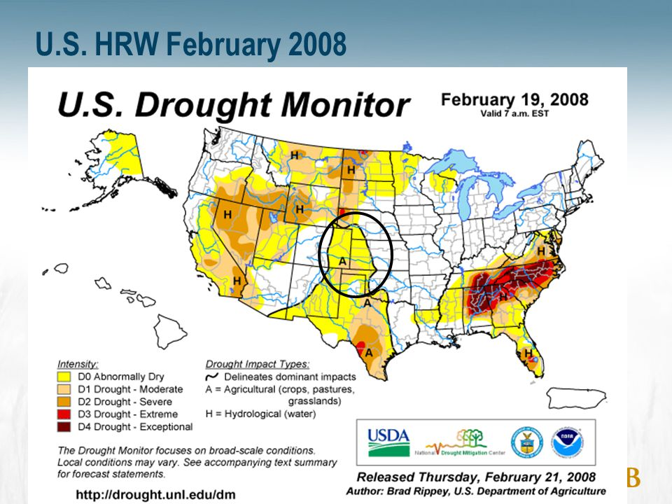 20 Western Canada Soil Moisture (November 1, 2007) 0 mm to 25 mm (Very Dry) 25 mm to 50 mm (Dry) 50 mm to 100 mm (Moist) >100 mm (Wet) Millimeters of Available Soil Water