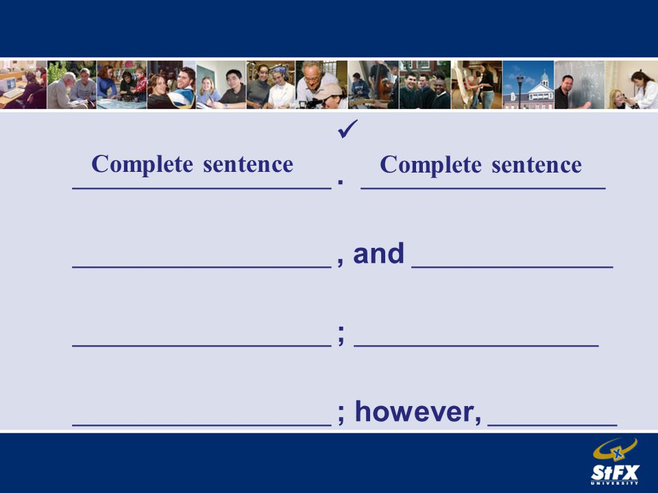 _. _. _. _._. _, _________________ Dependent clause independent clause
