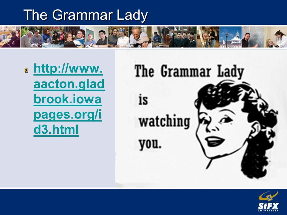 Helpful LInks http://www.chompchomp.com/ http://english-zone.com/index.php?ID=1 http://web2.uvcs.uvic.ca/elc/studyzone/330/gram mar/parts.htm http://andromeda.rutgers.edu/~jlynch/Writing/ http://leo.stcloudstate.edu/acadwrite/editing.html http://www.teachmeteamwork.com/