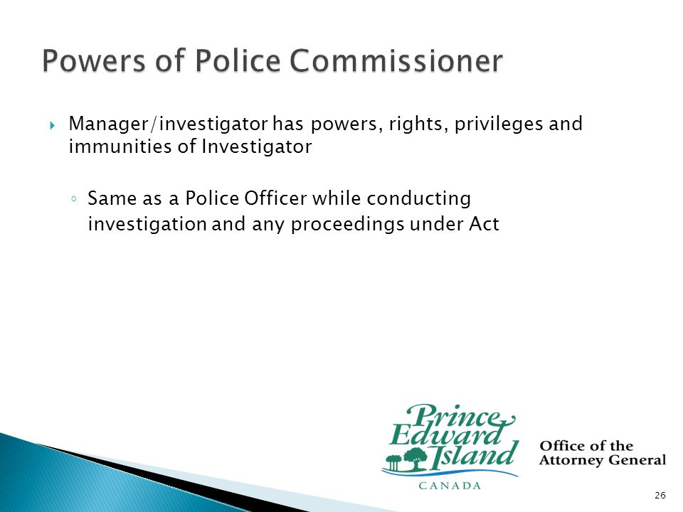 Complaint resolved informally Formal complaint resolved by Chief Officer or appealed Office of police commissioner manager investigates, resolves or refers to Police Commissioner Police Commissioner holds hearing, a decision is made and complaint process concluded (appeal on issue of law) 27