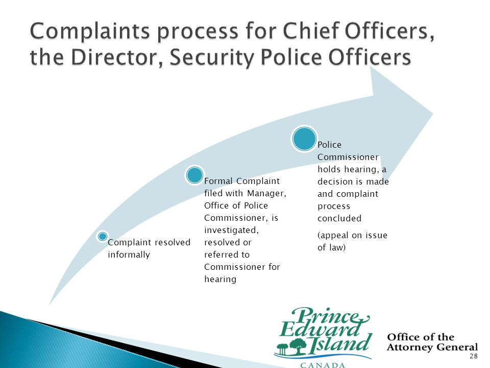  Police Assoc/Union dissatisfaction with 2006 Police Act version of the complaints procedure among other concerns, especially the expressed need for more in-service training.