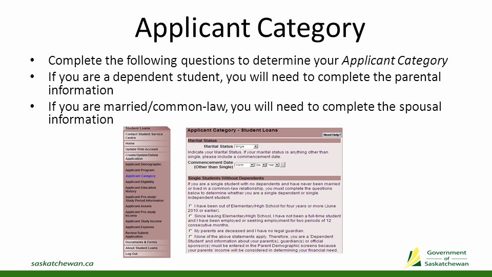 Applicant Dependants Select Add Dependant to add information about each dependant Once you have added all your dependants, select Next