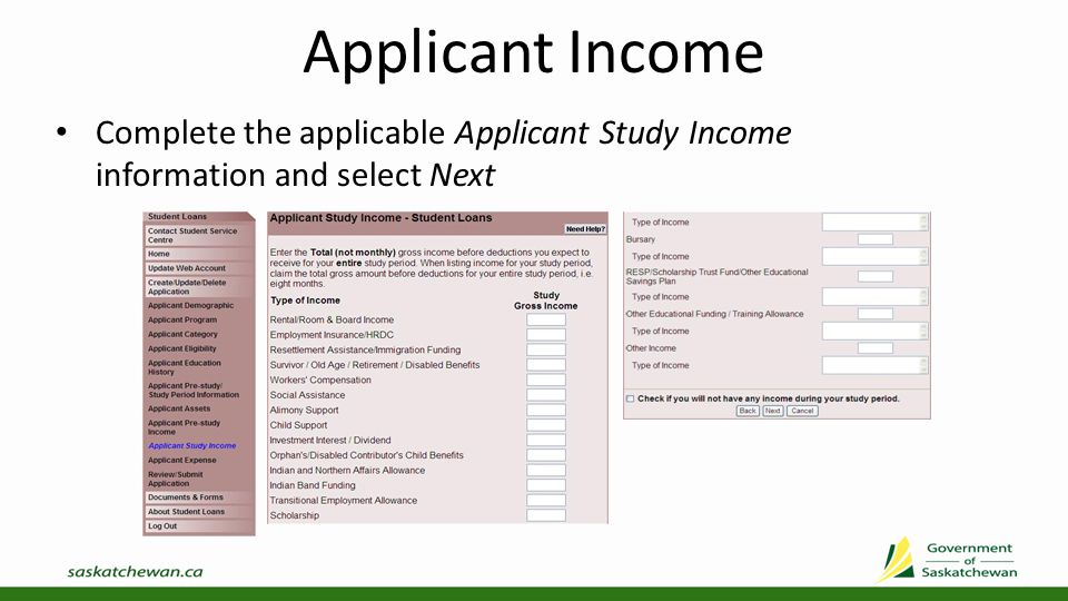 Applicant Expense Complete the applicable Applicant Expense information and select Next