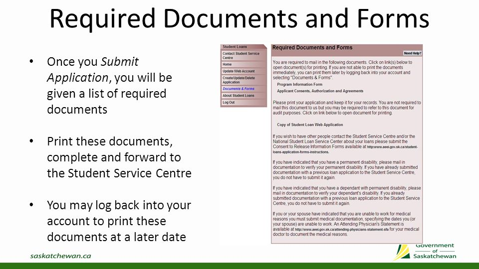 Required Documents and Forms Required Documents – Program Information Form