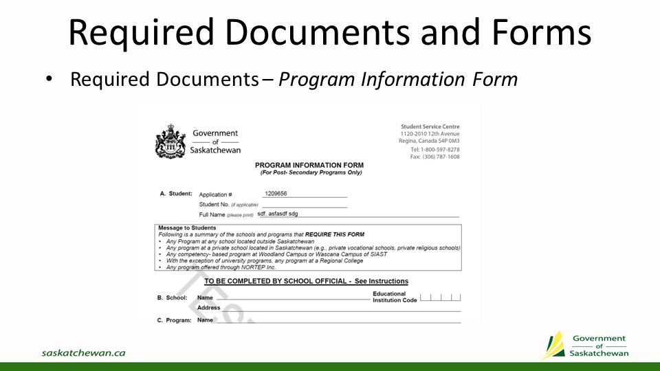 Required Documents and Forms Required Documents – Applicant Consents, Authorizations and Agreements