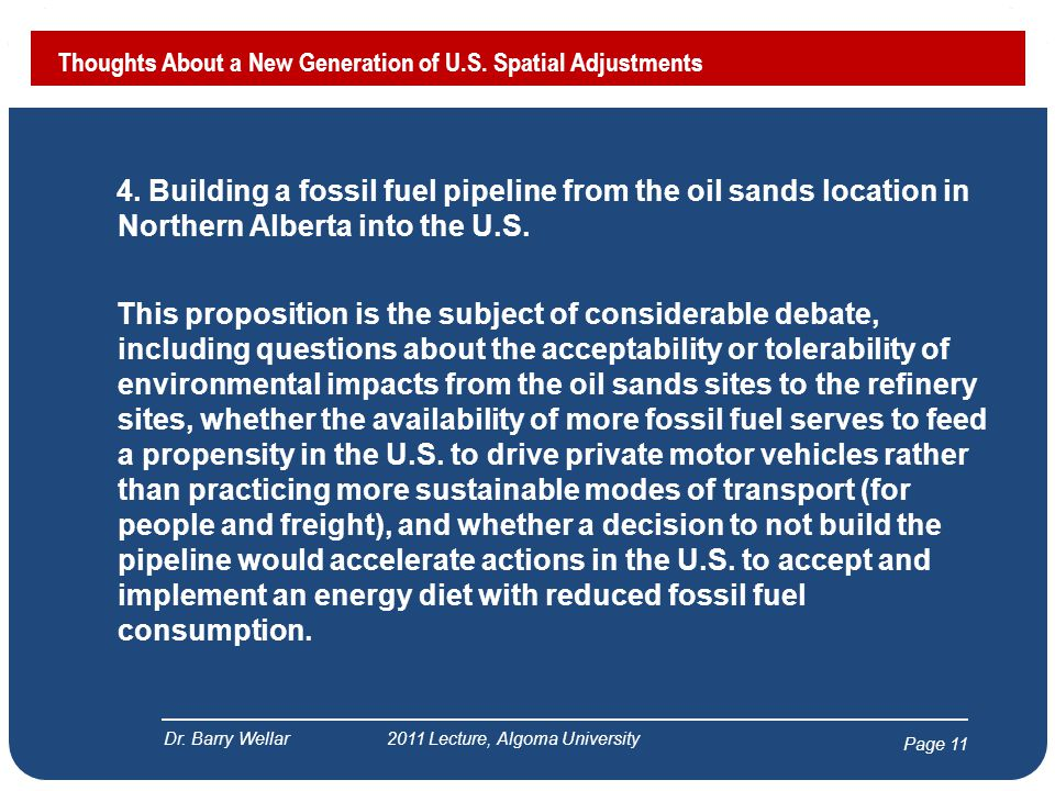 Page 12 Thoughts About a New Generation of U.S.Spatial Adjustments Dr.