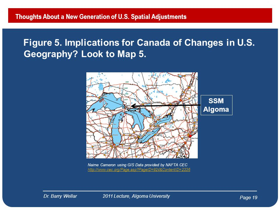 Page 20 Figure 6.Implications for Canada of Changes in U.S.