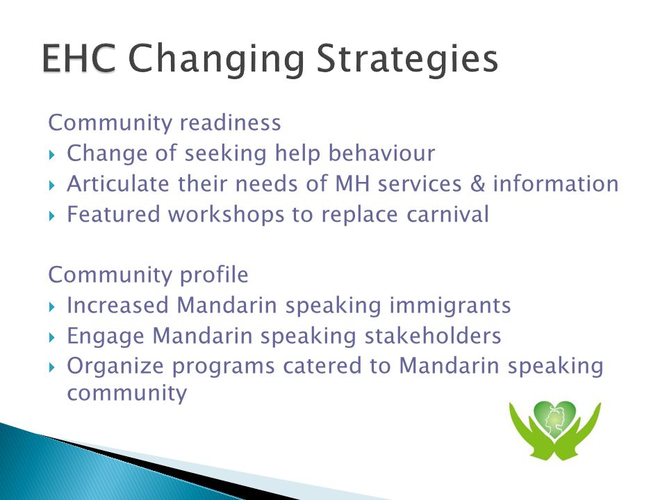 Learning  Shared vision & belief can build strong partnership  Sensitivity to community readiness / profile leads to changing strategies  Key stakeholders & ethnic media support enhance the success of the event  Lacking of accessible first language mental health services  Realization of the close relationship between MH and family violence