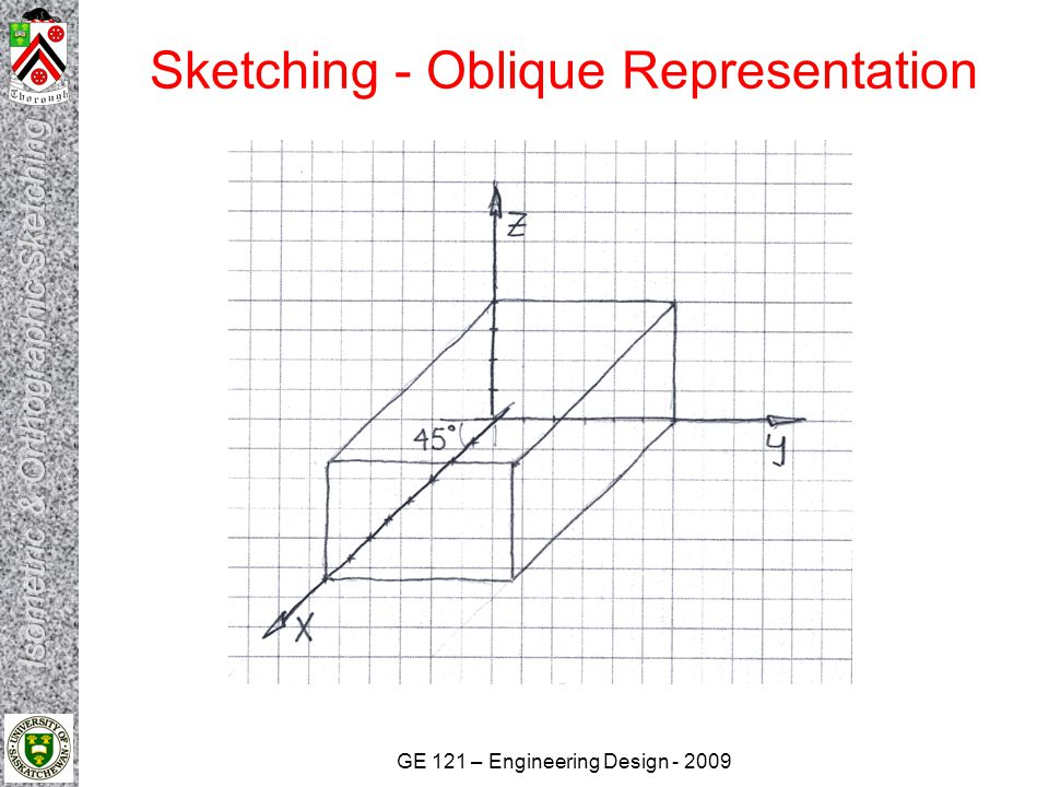 GE 121 – Engineering Design - 2009 Sketching - Isometric Representation