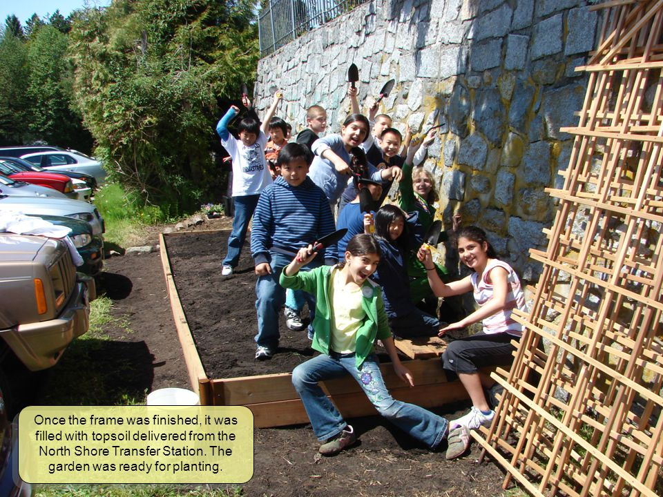 Back in the classroom, teams of students were given the task of painting and decorating the facia that would later be affixed to the frame of the garden.
