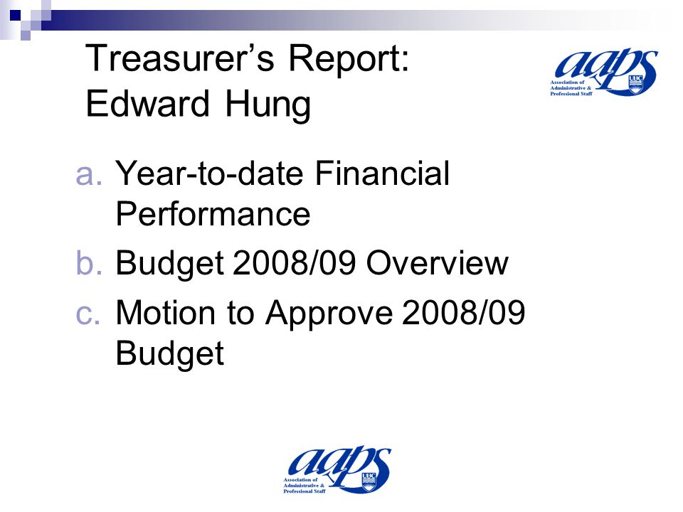 Budget Overview 2008/09 Budget 08/09 Budget 07/08 07/08 Year to Date March 31/08 % 0f Budget Budget 06/07 Actual 06/07 % of Budget Revenue % Rec d % Spent % Rec d Total Revenue 789 $ 730 $ 601 82% $ 631 $ 727 115% Total Board Expenses $ 201 $ 190 $ 67 35% $ 145 $ 130 90% Total Administration Expenses $ 534 $ 498 $ 343 69% $ 462 $ 373 81% Total Expenses: $ 735 $ 688 $ 410 60% $ 607 $ 503 83% Surplus (Deficit) $ 54 $ 41 $ 191 $ 24 $ 224 Arbitration $ $ $ 79 $ $ 90 Surplus Less Arbitration $ 54 $ 41 $ 112 $ 24 $ 134 Expense