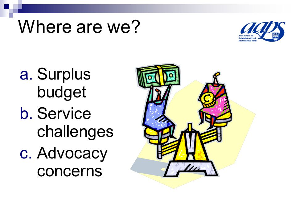 Impending Challenges 1.Salaries Surveys 2. IRP Governance 3.