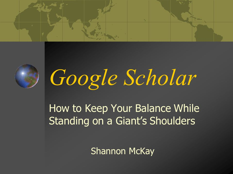 What is Google Scholar.Much like its counterpart Google , Google Scholar is a search engine.