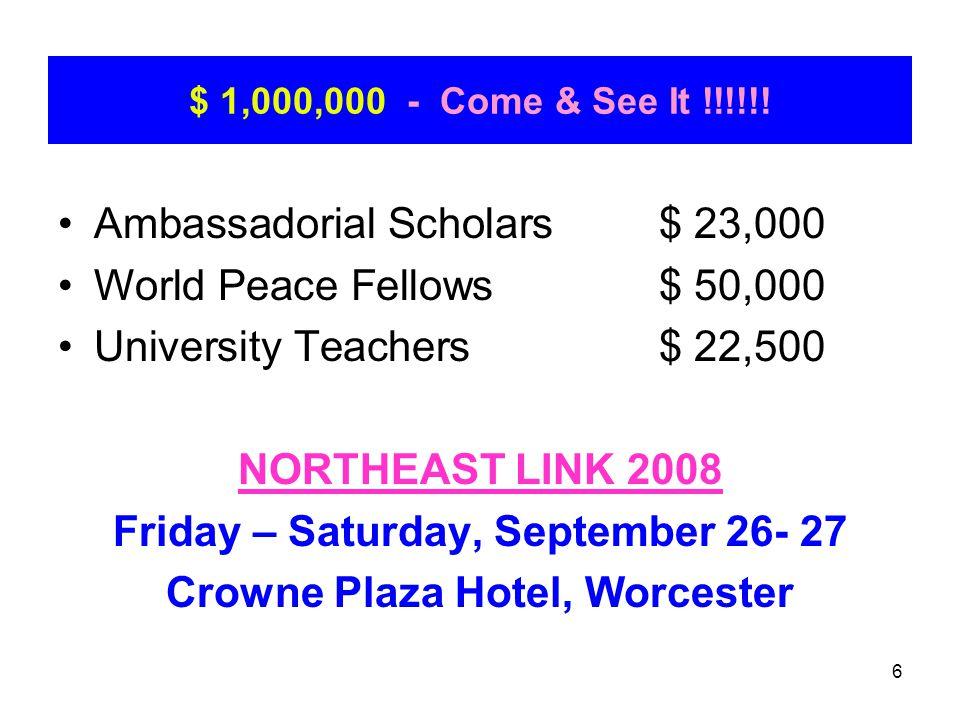 7 $ 1,000,000 - Here it is !!!!!! NORTHEAST LINK 2006