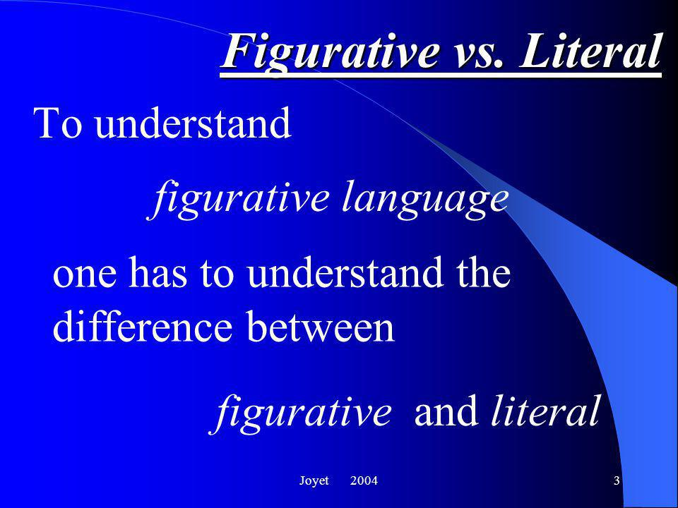 Joyet 20043 Figurative vs.