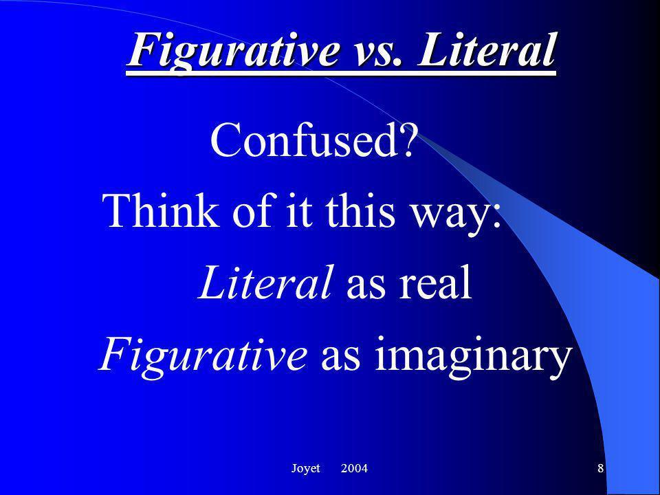 Joyet 20048 Figurative vs.Literal Confused.